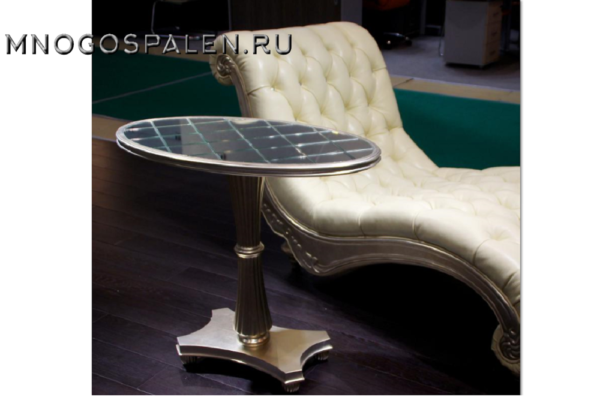 Приставной столик в серебре купить в салоне-студии мебели Барселона mnogospalen.ru много спален мебель Италии классические современные