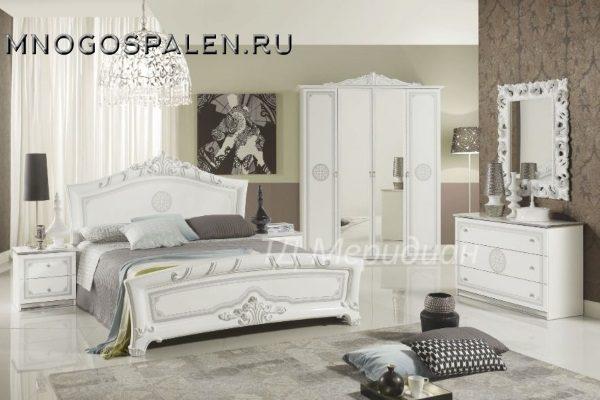 купить спальня европа белая салон итальянский мебели барселона в