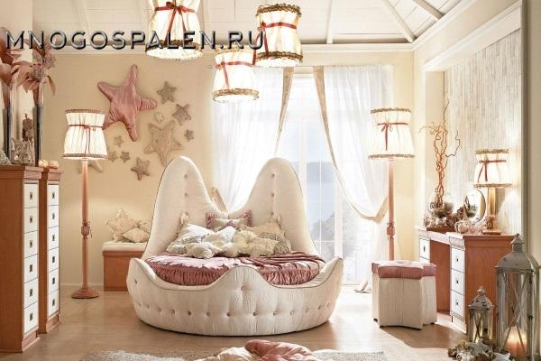 Круглая детская кровать Bambino GM 05 купить в салоне-студии мебели Барселона mnogospalen.ru много спален мебель Италии классические современные