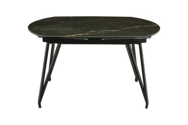 Стол  MK-7511-BL обеденный керамический  Черный мрамор купить в салоне-студии мебели Барселона mnogospalen.ru много спален мебель Италии классические современные