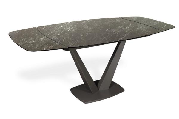 Стол ALATRI 120 SINTERED STONE MATT BLACK MARBLE / BLACK М-City купить в салоне-студии мебели Барселона mnogospalen.ru много спален мебель Италии классические современные
