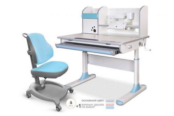 Комплект стол Mealux Edmonton Multicolor + кресло ErgoKids Y-402 купить в салоне-студии мебели Барселона mnogospalen.ru много спален мебель Италии классические современные